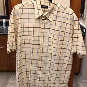 Men's Italian button down short sleeve shirt